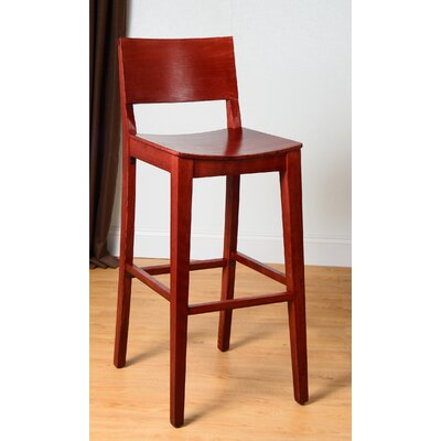 Entrekin 30 Bar Stool Finish: Mahogany