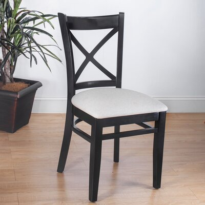 Side Chair Set of 2 Finish Black