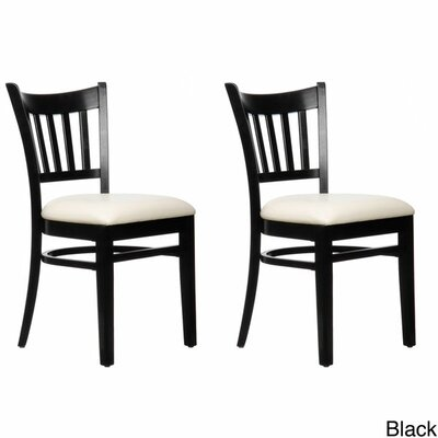 Slatback Solid Beech Wood Chair (Set of 2) Finish: Black