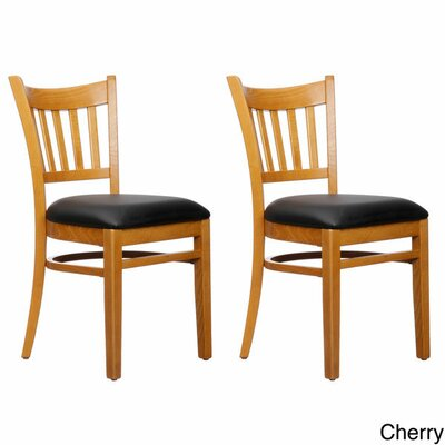 Slatback Solid Beech Wood Chair (Set of 2) Finish: Cherry