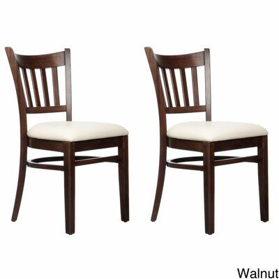 Slatback Solid Beech Wood Chair Finish: Walnut