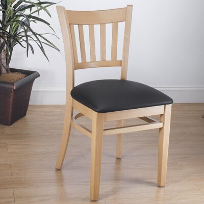Slatback Solid Beech Wood Chair (Set of 2) Finish: Natural