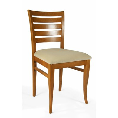 Sisley Side Chair Finish: Cherry, Upholstery: Cream