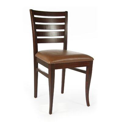 Sisley Side Chair Finish: Medium Oak, Upholstery: Brown