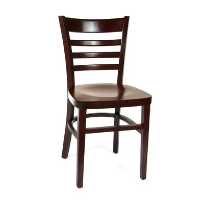 Ladderback Solid Wood Dining Chair Finish: Dark Mahogany