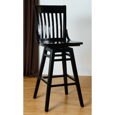 30 Swivel Bar Stool Finish: Black