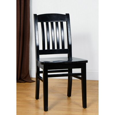 Claverton Down Solid Wood Side Chair Color: Black