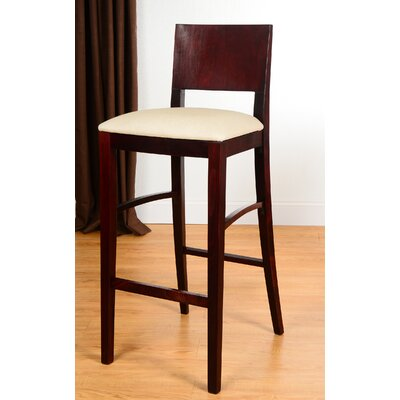 Italia 30 Bar Stool Finish: Dark Mahogany