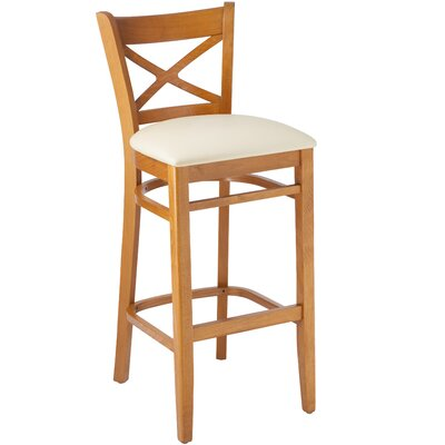 30 Bar Stool Frame Finish / Upholstery: Cherry
