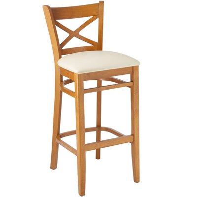 30 Bar Stool Frame Finish / Upholstery: Cherry