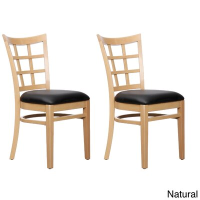 Side Chair (Set of 2) Finish: Natural