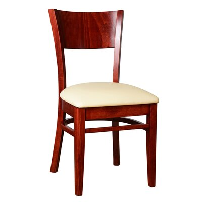 Rachel Solid Wood Dining Chair (Set of 2) Finish: Mahogany