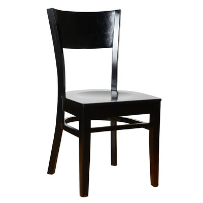 Rachel Solid Wood Dining Chair (Set of 2) Finish: Black