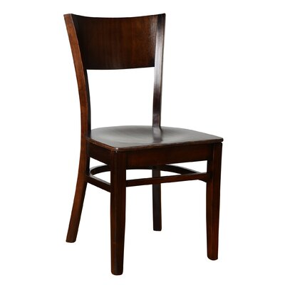 Rachel Solid Wood Dining Chair (Set of 2) Finish: Walnut