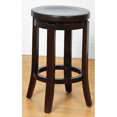 24 Swivel Bar Stool Finish: Walnut