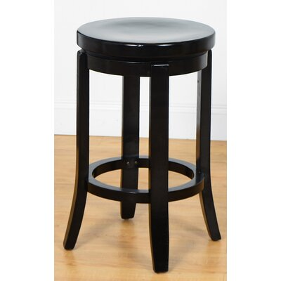 24 Swivel Bar Stool Finish: Black