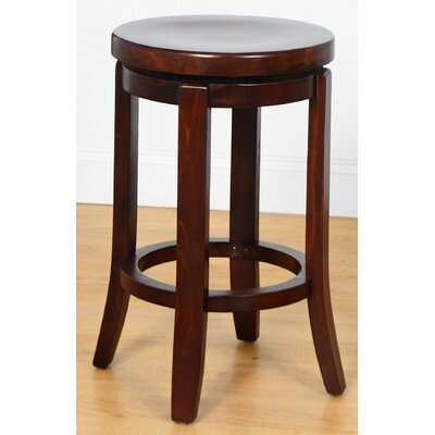 24 Swivel Bar Stool Finish: Medium Oak