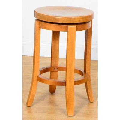 24 Swivel Bar Stool Finish: Cherry