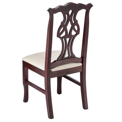 Jaylon Solid Wood Dining Chair Color: Dark Mahogany