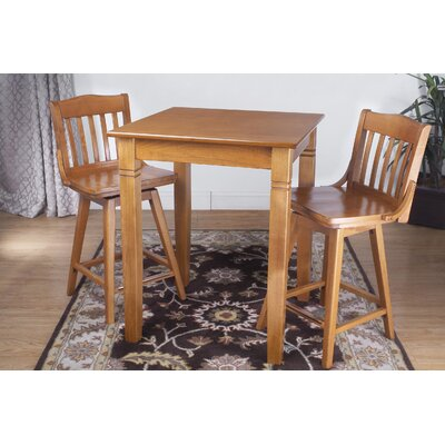3 Piece Pub Table Set Finish: Cherry