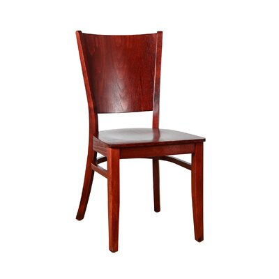 Irons Solid Wood Dining Chair Finish: Mahogany