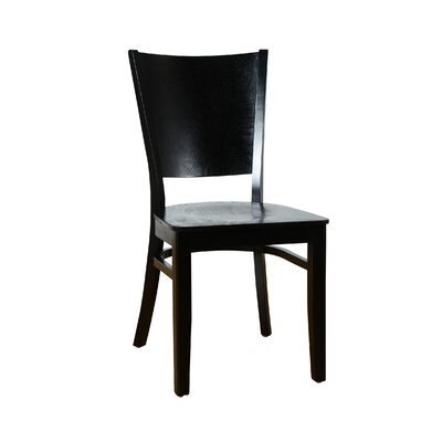 Winston Solid Wood Dining Chair (Set of 2) Finish: Black