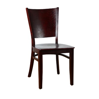 Winston Solid Wood Dining Chair (Set of 2) Finish: Dark Mahogany