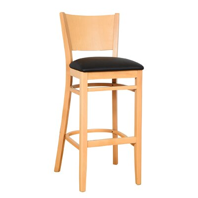 Irons 30 Bar Stool Finish: Natural