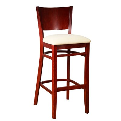 Winston 30 Bar Stool Finish: Mahogany