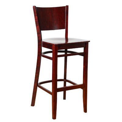 Irons 30 Bar Stool Finish: Dark Mahogany