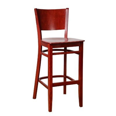Irons 30 Bar Stool Finish: Mahogany