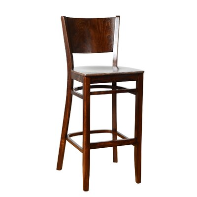 Irons 30 Bar Stool Finish: Walnut