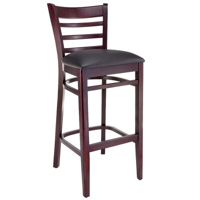 30 Bar Stool Finish: Dark Mahogany