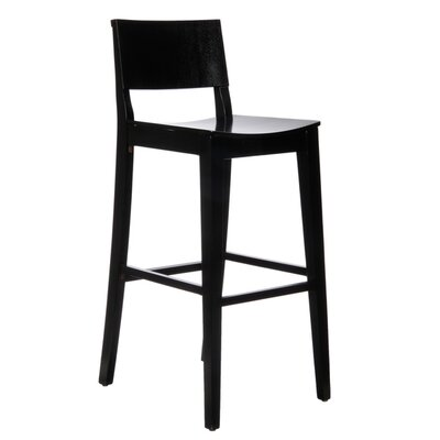 Basil 30 Bar Stool Finish: Black