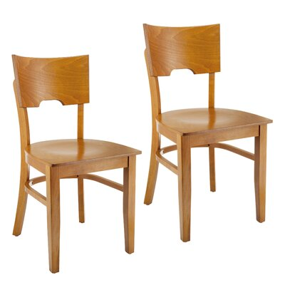 Cairo Side Chair (Set of 2) Finish: Cherry