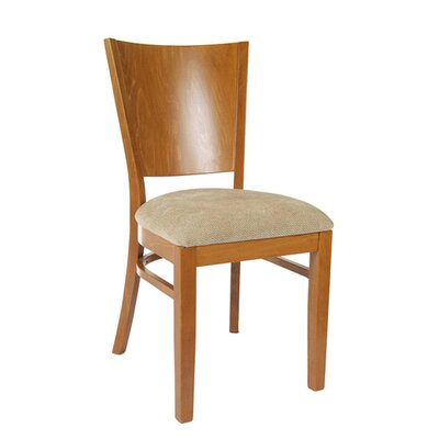 Winston Side Chair (Set of 2) Finish: Cherry, Upholstery: Chenille - Wheat