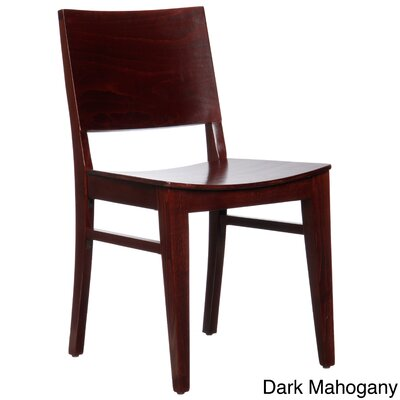 Entrekin Solid Wood Dining Chair Finish: Dark Mahogany