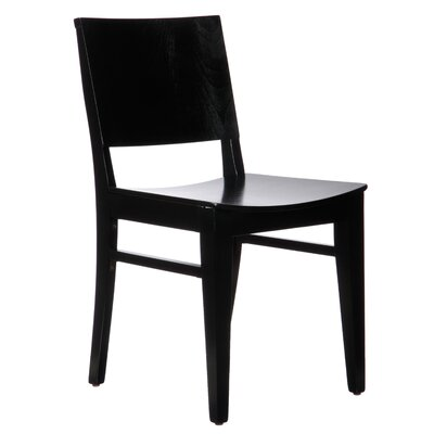 Basil Solid Wood Dining Chair (Set of 2) Finish: Black
