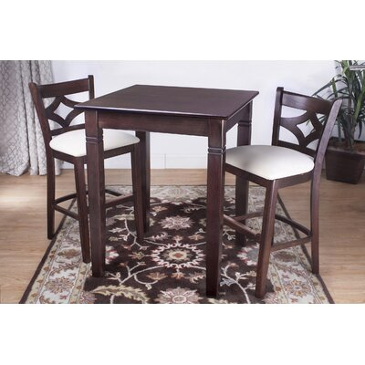 Fralick 3 Piece Pub Table Set Color: Walnut