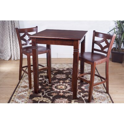 Rego 3 Piece Pub Table Set Finish: Medium Oak