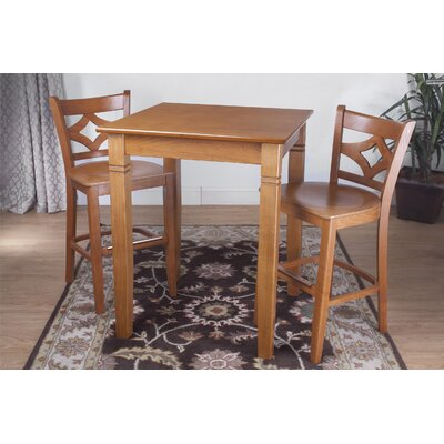 Rego 3 Piece Pub Table Set Finish: Cherry