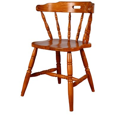 Colonial Solid Wood Dining Chair (Set of 2) Finish: Cherry