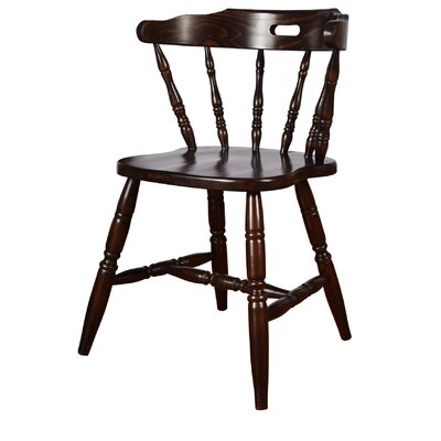 Colonial Solid Wood Dining Chair (Set of 2) Finish: Walnut