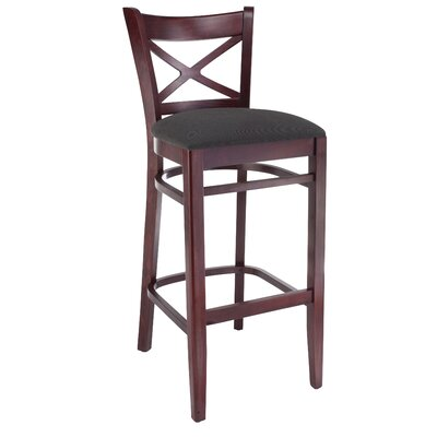 30 Bar Stool Frame Finish / Upholstery: Mahogany