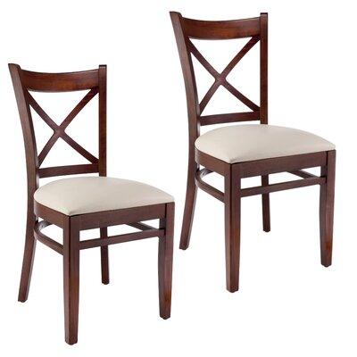 Side Chair (Set of 2) Finish: Medium Oak