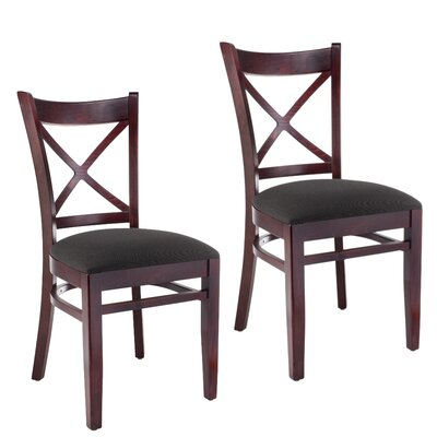Gambrel Solid Wood Dining Chair Finish: Dark Mahogany