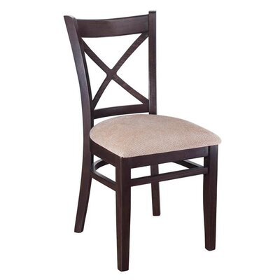 Crossback Solid Wood Dining Chair (Set of 2) Color: Walnut