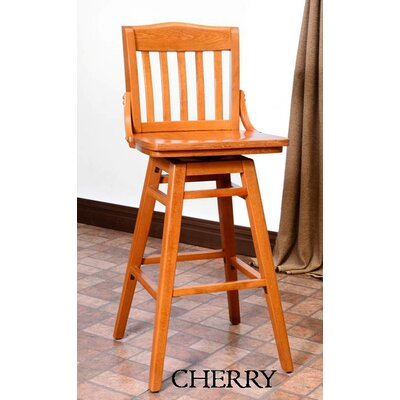 Schoolhouse 30 Swivel Bar Stool Finish: Cherry