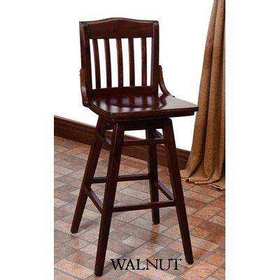 Schoolhouse 30 Swivel Bar Stool Finish: Walnut