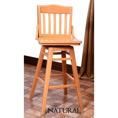 Schoolhouse 30 Swivel Bar Stool Finish: Natural
